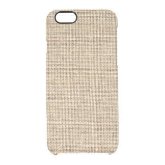 Rustic Country Vintage Burlap Clear iPhone 6/6S Case