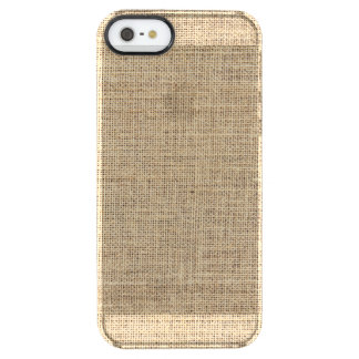 Rustic Country Vintage Burlap Clear iPhone SE/5/5s Case