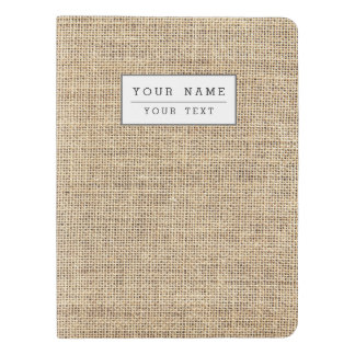 Rustic Country Vintage Burlap Extra Large Moleskine Notebook