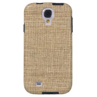 Rustic Country Vintage Burlap Galaxy S4 Case