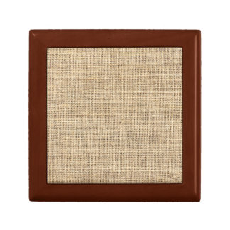Rustic Country Vintage Burlap Gift Box