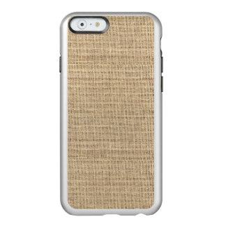 Rustic Country Vintage Burlap Incipio Feather® Shine iPhone 6 Case