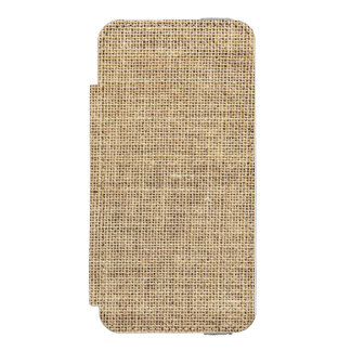 Rustic Country Vintage Burlap Incipio Watson™ iPhone 5 Wallet Case