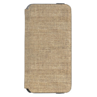 Rustic Country Vintage Burlap Incipio Watson™ iPhone 6 Wallet Case