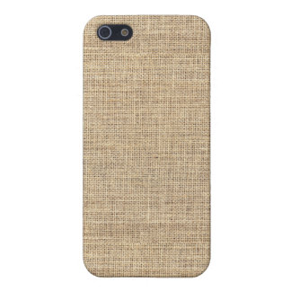 Rustic Country Vintage Burlap iPhone 5 Cases