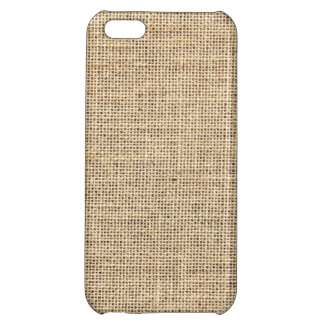 Rustic Country Vintage Burlap iPhone 5C Cases