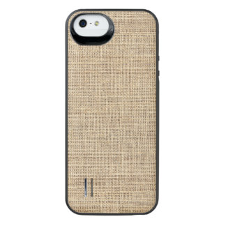 Rustic Country Vintage Burlap iPhone SE/5/5s Battery Case