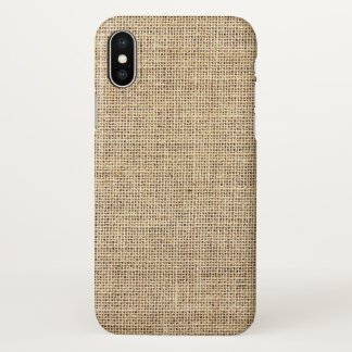 Rustic Country Vintage Burlap iPhone X Case