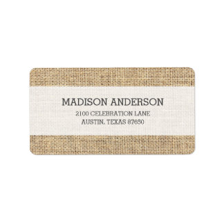 Rustic Country Vintage Burlap Label