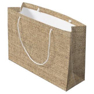 Rustic Country Vintage Burlap Large Gift Bag