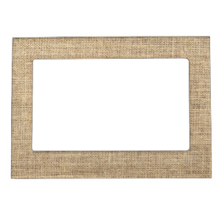 Rustic Country Vintage Burlap Magnetic Frame