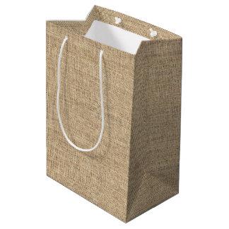 Rustic Country Vintage Burlap Medium Gift Bag