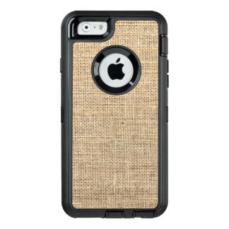 Rustic Country Vintage Burlap OtterBox Defender iPhone Case