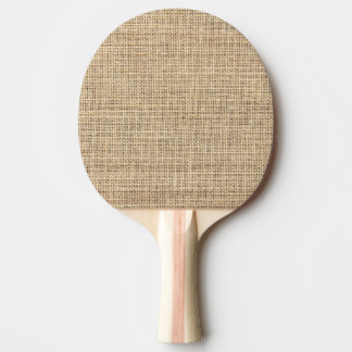 Rustic Country Vintage Burlap Ping Pong Paddle