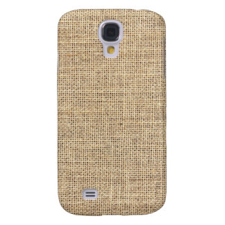 Rustic Country Vintage Burlap Samsung Galaxy S4 Covers