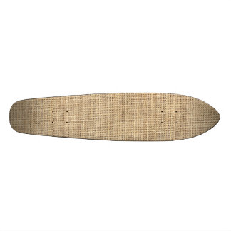 Rustic Country Vintage Burlap Skateboard