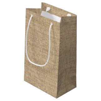 Rustic Country Vintage Burlap Small Gift Bag