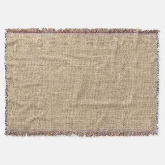 Rustic Country Vintage Burlap Throw Blanket