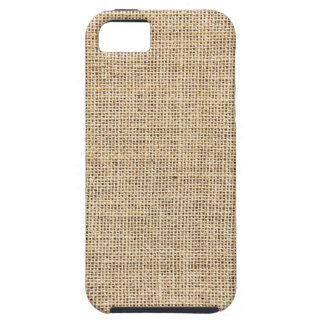 Rustic Country Vintage Burlap Tough iPhone 5 Case