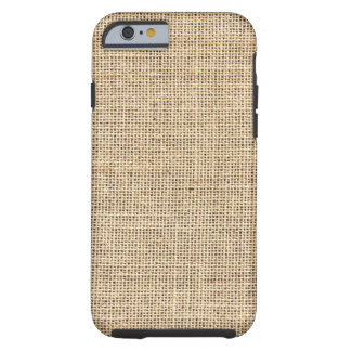Rustic Country Vintage Burlap Tough iPhone 6 Case