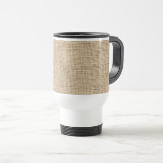 Rustic Country Vintage Burlap Travel Mug