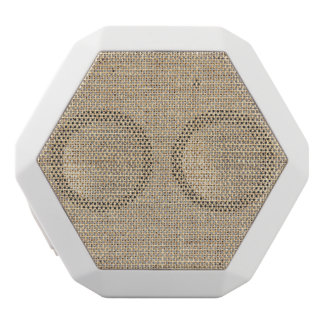 Rustic Country Vintage Burlap White Bluetooth Speaker