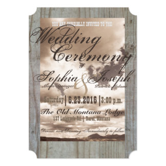 Rustic Country Vintage Wedding Invite