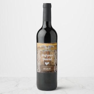 Rustic Country Wedding Beverage Wine Label