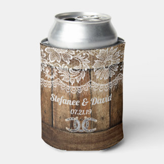 Rustic Country Wedding Can Cooler