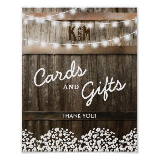 RUSTIC COUNTRY WEDDING CARDS AND GIFTS POSTER