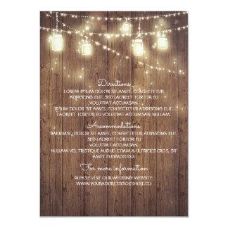 Rustic Country Wedding Details - Information 11 Cm X 16 Cm Invitation Card