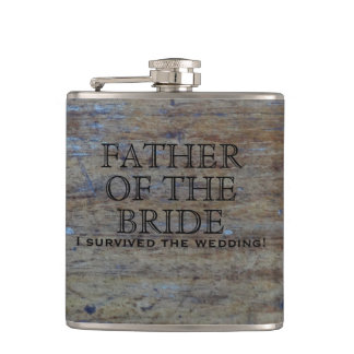 Rustic Country Wedding | Funny Father of the Bride Hip Flask