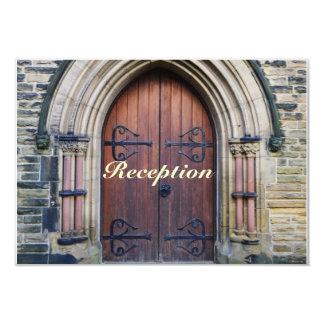 Rustic Country Wedding Old Wooden Door Reception 9 Cm X 13 Cm Invitation Card