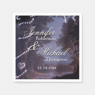 Rustic Country Wedding Paper Serviettes