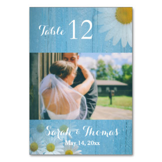 Rustic Country Wedding Photo Table Number Card Table Cards
