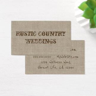 Rustic Country Wedding Planner Business Card