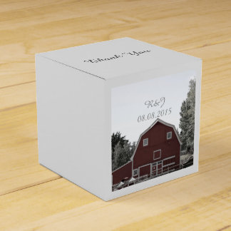 rustic country wedding red barn wedding favour box