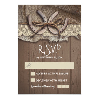 Rustic country wedding RSVP cards 9 Cm X 13 Cm Invitation Card