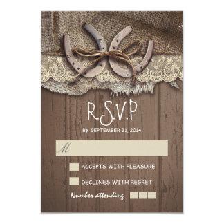 Rustic country wedding RSVP cards 9 Cm X 13 Cm Invitation Card