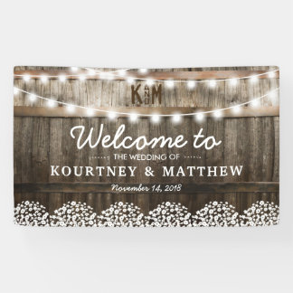 RUSTIC COUNTRY WEDDING | STRING OF LIGHTS
