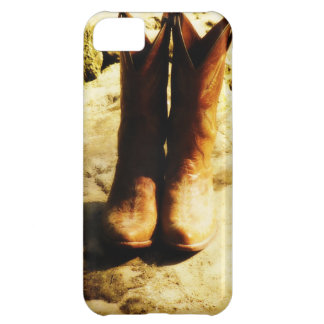 Rustic Country Western Cowboy Boots in Sunlight iPhone 5C Case