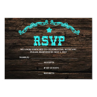 Rustic Country Western Star RSVP Card