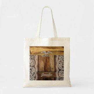 Rustic Country Western Wedding Bridesmaid Tote Bag