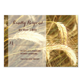 Rustic Country Wheat Field Farm Wedding RSVP Cards