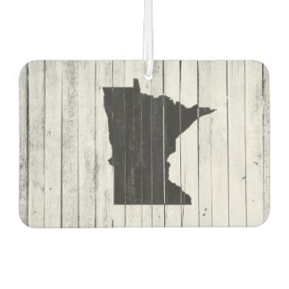 Rustic Country Wood Minnesota Black and White Car Air Freshener