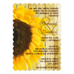 Rustic Coutry Chic Barn Wood Sunflower Wedding Personalized Announcements