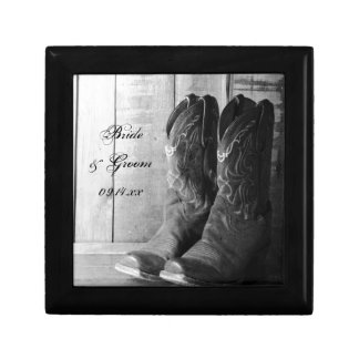 Rustic Cowboy Boots Country Western Wedding Gift Box