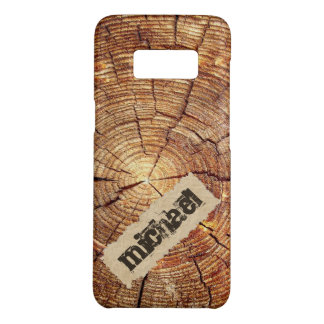 rustic Cracked wooden ring torn paper monogram Case-Mate Samsung Galaxy S8 Case