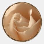 Rustic Cream Rose Wedding Envelope Seal Classic Round Sticker