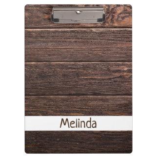 Rustic Custom Wood Clipboard